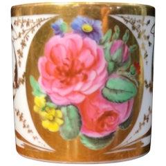 Paris Porcelain Manteau Studio Coffee Can, Rich Gold and Roses, circa 1810