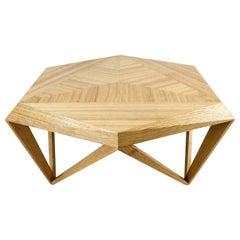 Onyx Coffee Table, Modern, Oak Wood, Handmade
