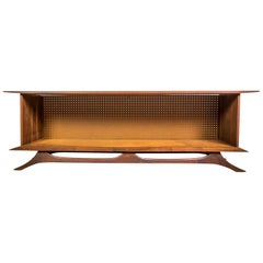 Sculpted Studio Cabinet or Credenza in Walnut