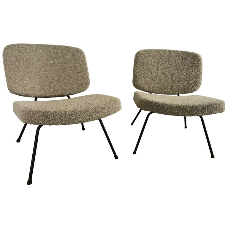 CM190 Slipper Chairs by Pierre Paulin For Sale