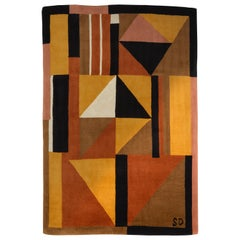 """""""Harlequin"""" Rug by Sonia Delaunay, Edited in 1983"""
