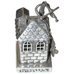 """Sterling Silver Spice Box Depicting """"Fiddler on the Roof"""""""