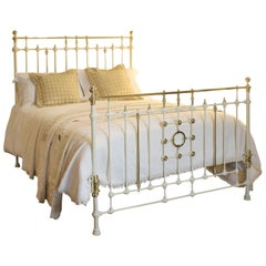Victorian Cast Iron Bed in Cream, MK173
