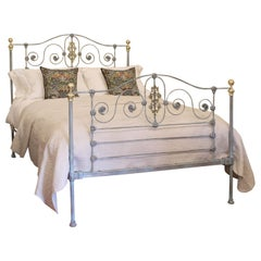 Cast Iron Bed in Blue Verdigris, MK174