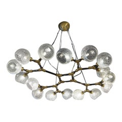 Toso Mid-Century Modern Crystal Murano Glass Chandelier Labyrinth, 1995s