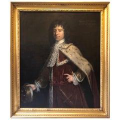 18th Century Portrait 1st Viscount of Lonsdale, England, circa 1700