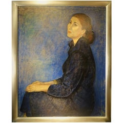 Portrait of a Woman Dated 1954 , Oil on Canvas