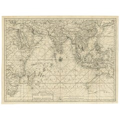 Antique Map of South East Asia, Australia and the Indian Ocean, 1726