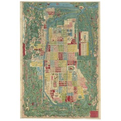 Antique Japanese Map of Kyoto, 1870