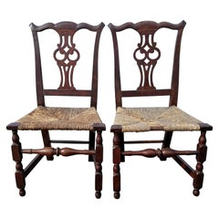 Rare Matched Pair of Transitional Chippendale Chairs, Salem Mass, circa 1760