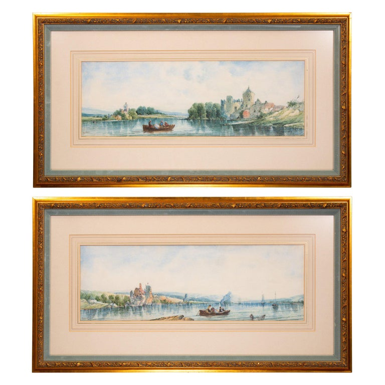 """""""Coastal Scenes"""" Original Paintings by Alfred H. Vickers For Sale"""