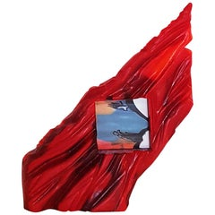 Gaetano Pesce Italian Contemporary Picture Frame in Red Resin, Limited Edition
