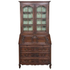 Antique Country French Provincial Secretary, Bookcase