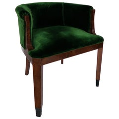 Art Deco Green Velvet Thuja Seat by Dominique
