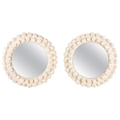 Pair of Jacques Darbaud Mirrors, France, circa 2015