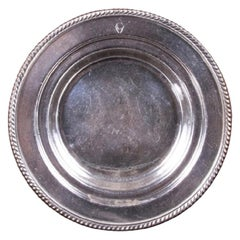 Gorham Silver Soldered Plate with Carlyle Hotel Logo, circa 1930