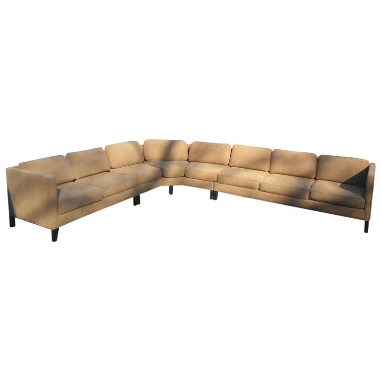 Mid-Century Modern Three-Piece Sectional Sofa by Dunbar For Sale