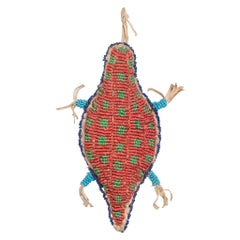 Sioux Native American Beaded Turtle Fetish