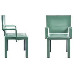 Set of 2 Mint-Colored Italian Armchairs by Paolo Piva for B&B Italia, 1990s