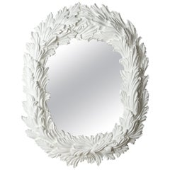 Hollywood Regency Style Oval Shaped Mirror