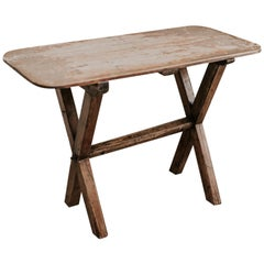 X-Legged Pine Table