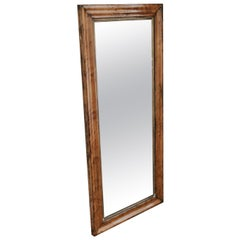 19th Century Pine Framed Mirror