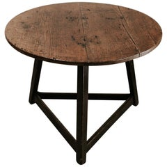 18th Century Cricket Table Beautiful Oakwood Top