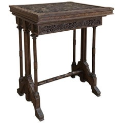 19th Century Gothic Oak Collector's Table