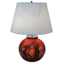 1950 Blown Glass Table Lamp by WFM Ikora
