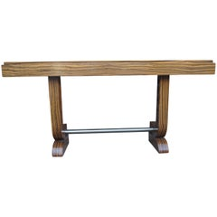 Art Deco–Style Zebrawood Console Table