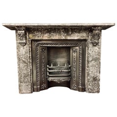 19th Century Victorian St Anne's Marble Corbel Fireplace Surround
