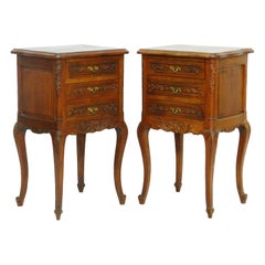 Pair of Nightstands French Side Cabinets Bedside Tables, 20th Century
