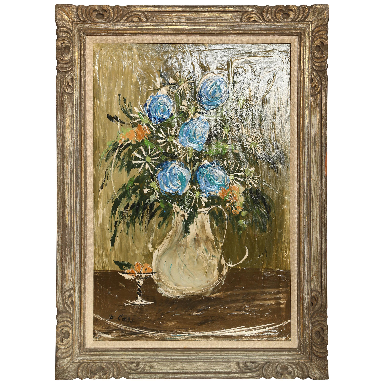 Original Midcentury Still Life Oil Painting