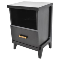 Pair of Vintage Midcentury Ebonized Nightstands