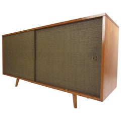 Mid-Century Modern Sliding Door Credenza by Paul McCobb