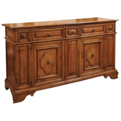 Early 18th Century Italian Baroque Style Walnut Credenza