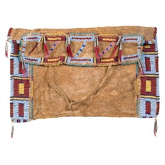 Sioux Brain Tanned and Beaded Work Bag
