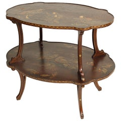 Chinoiserie Decorated Two-Tier Occasional Table