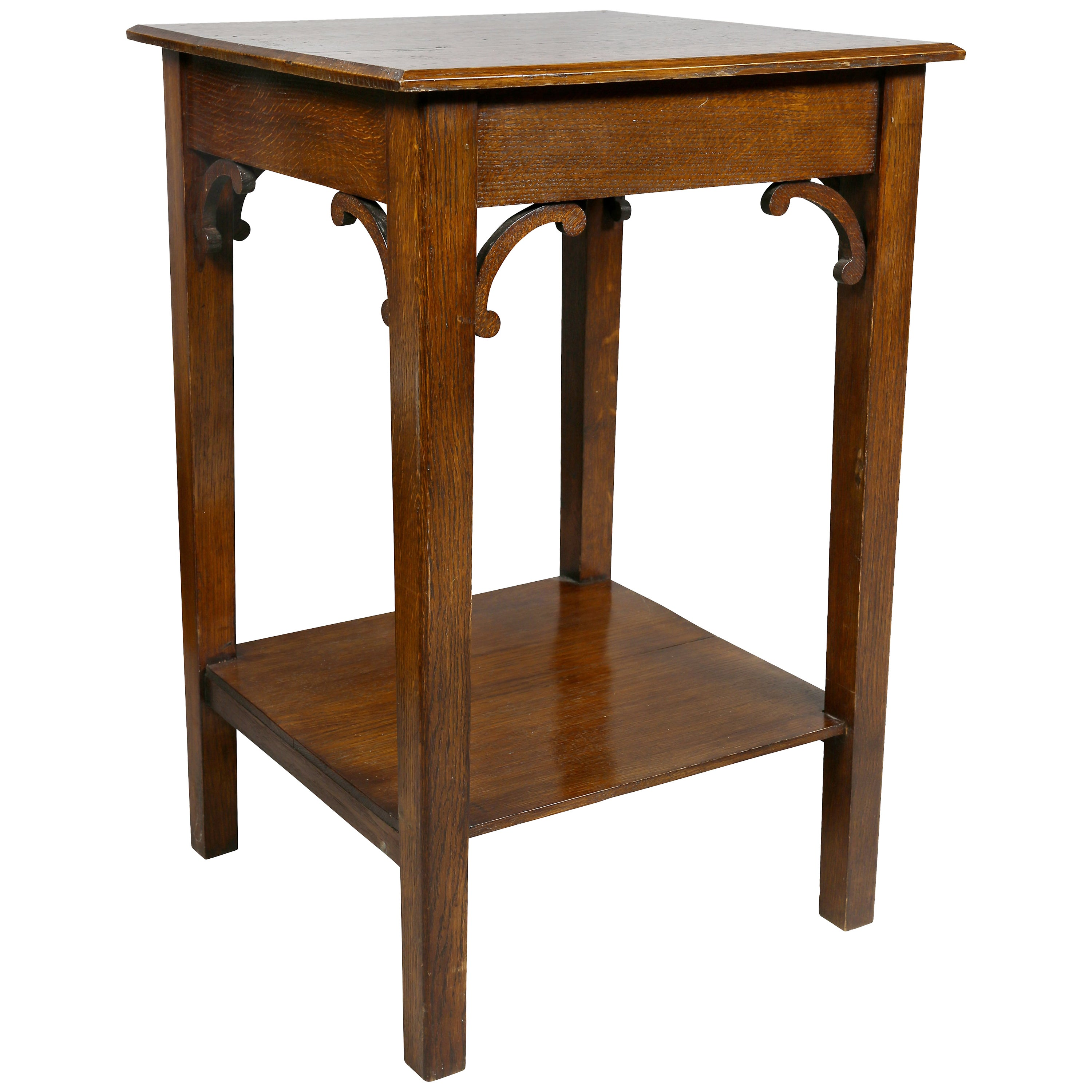 English Arts and Crafts Oak End Table