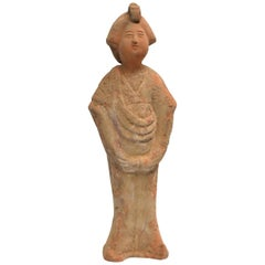 Chinese Tang Style Pottery Court Lady Figure 1