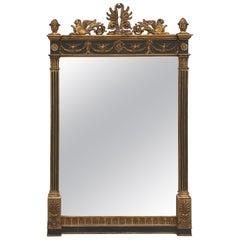 Neoclassical Parcel Gilt Mirror