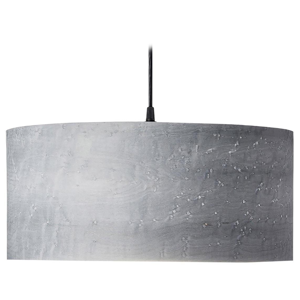"ARA 18x9"" Gray Bird's-Eye Maple Wood Drum Chandelier Pendant"