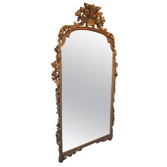 Large Continental Gilt Parlor Mirror, 20th Century