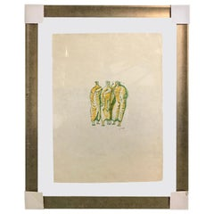 "Henry Moore Signed Limited Edition Lithograph ""Standing Figures"", 1966"