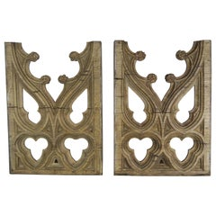 Pair of 19th Century Italian Gothic Style Wood Fragments