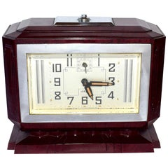 Large French Art Deco Bakelite Clock, circa 1935