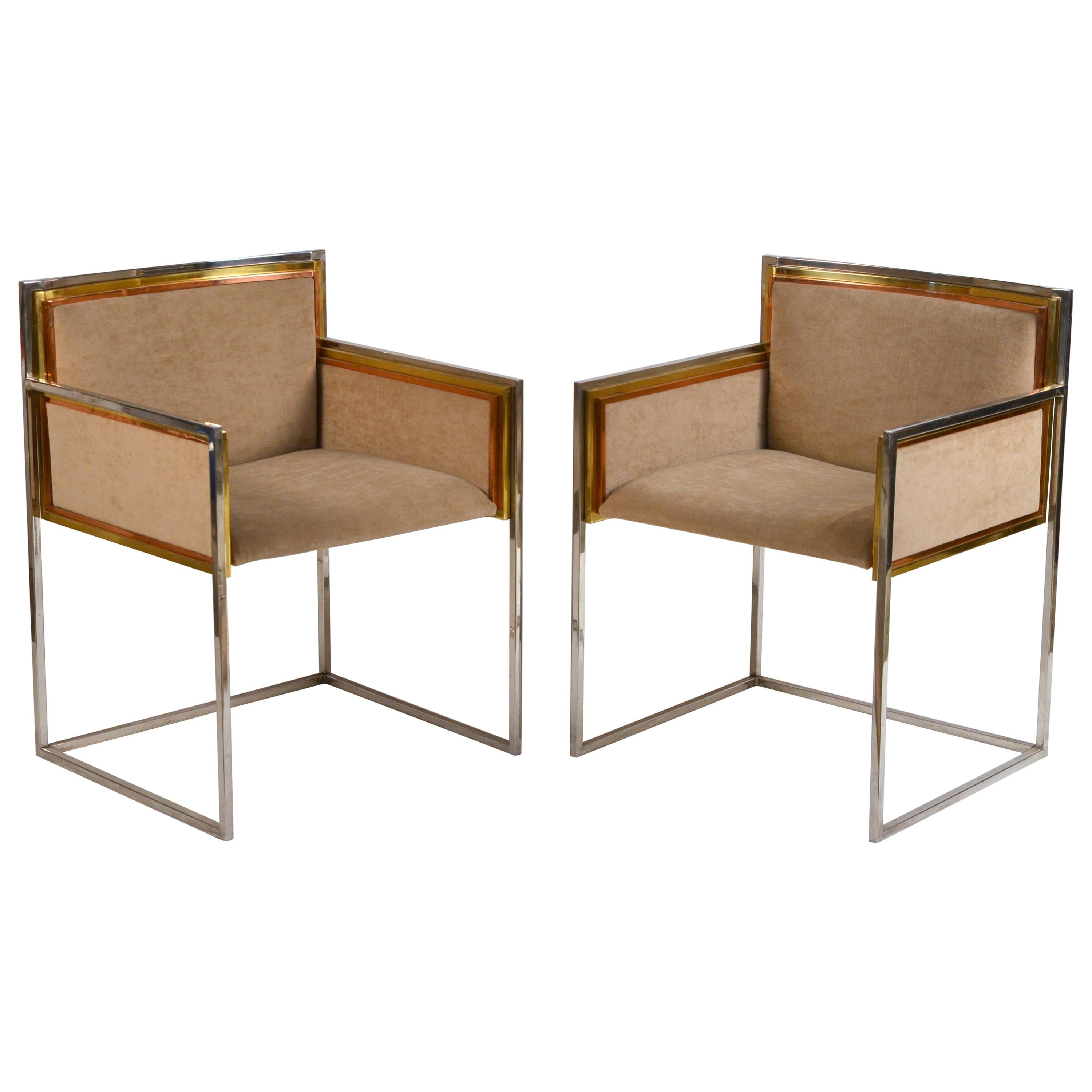 Exceptional Pair of Armchairs by Alain Delon for Maison Jansen