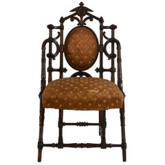 Exceptional Turned Walnut Side Chair by George Hunzinger