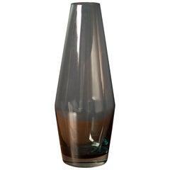 Vintage Scandinavian Riihimaki Glass Vase