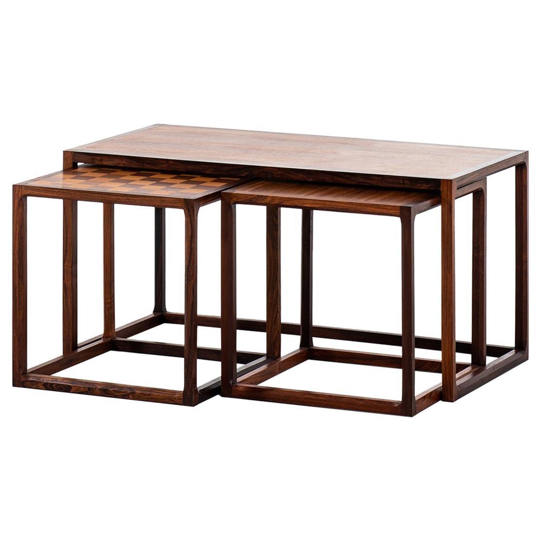 Aksel Kjersgaard Nesting Tables Produced by Odder in Denmark